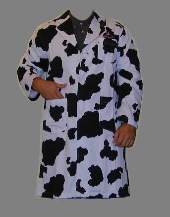 cow lab coat