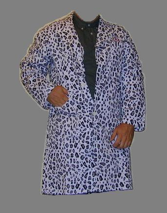 snow leopard lab coat